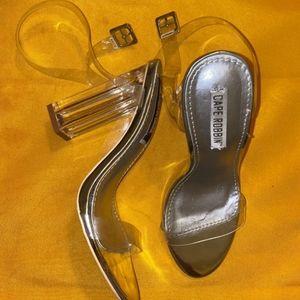 Cape Robbin Clear Block Heel Sandals